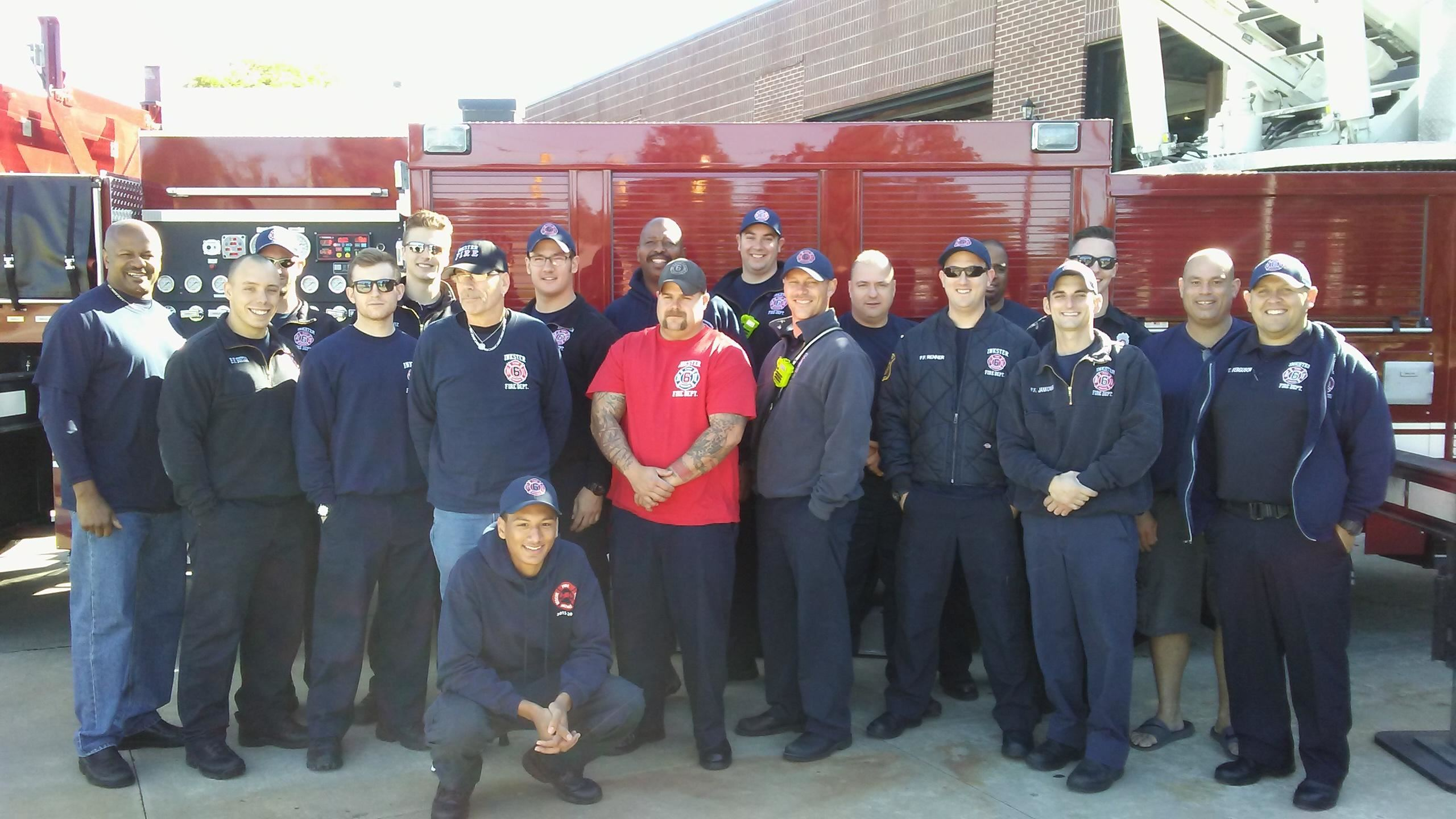 Group picture of fire fighters